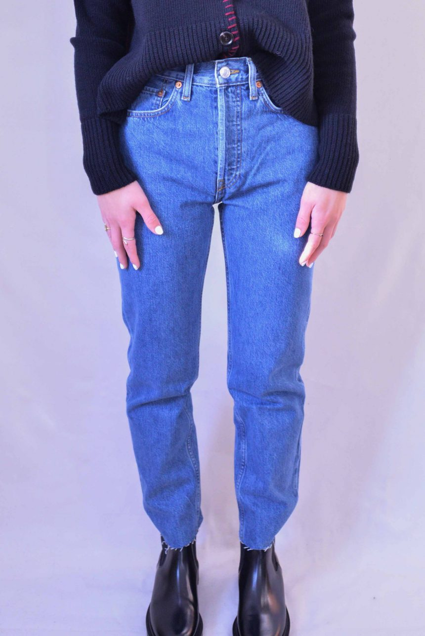 Jeans High Rise Stove Pipe SAF REDONE