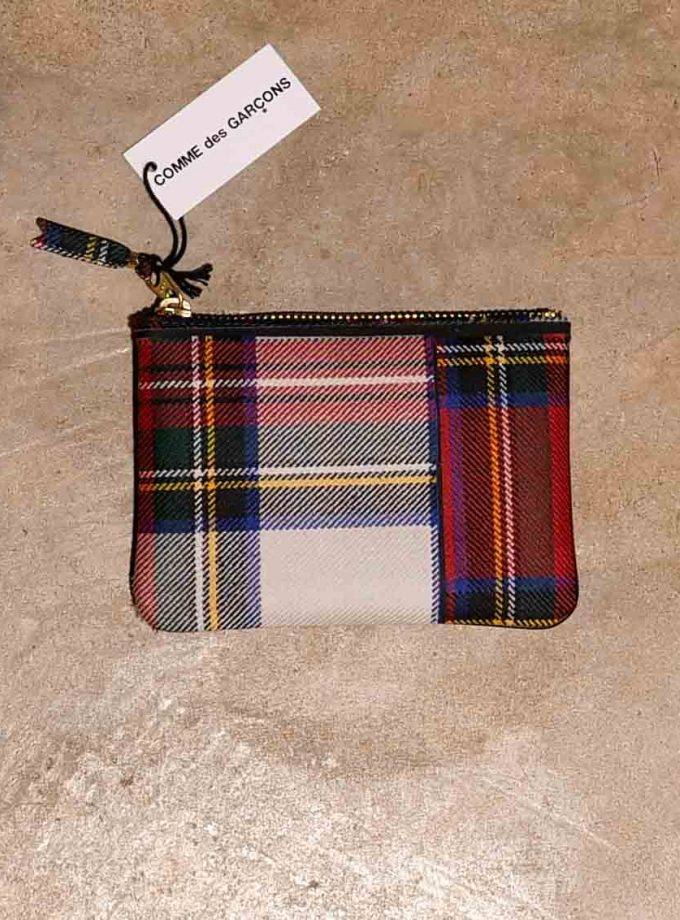 SA8100TP wallet CDG TARTANT RED