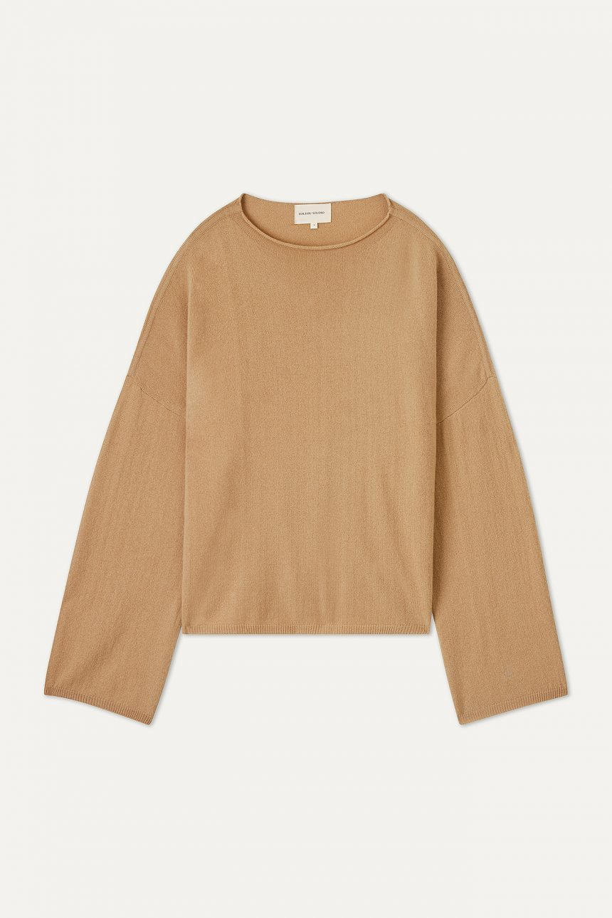 Pull Vacca camel Loulou studio